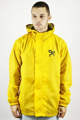 Jaqueta Windbreaker Grow Company Yellow Velcro
